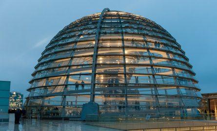 Glaskuppel im Reichstagsgebäude