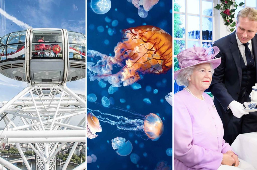 London Eye Kombi-Ticket mit Aquarium und Madame Tussauds