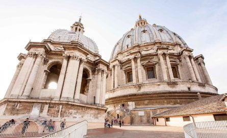 Kuppel im Petersdom in Rom