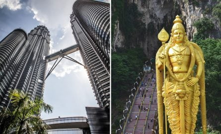 Petronas Towers und Batu-Höhlen