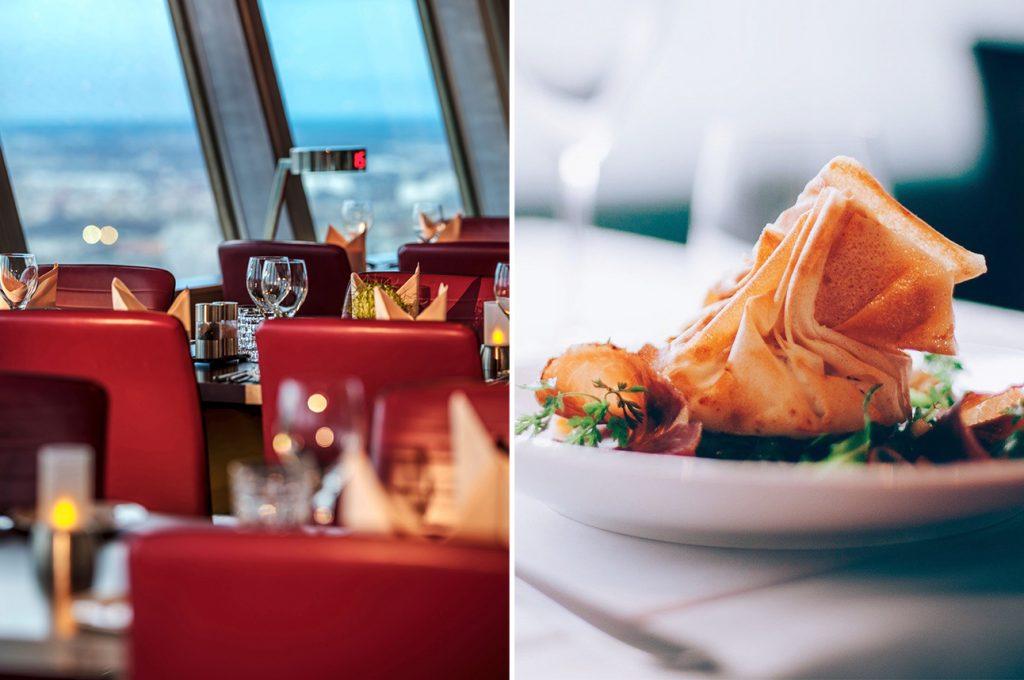 Abendessen im Berliner Fernsehturm