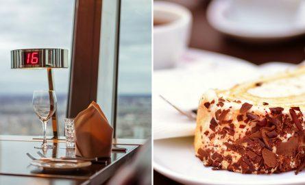 Kaffe und Kuchen im Berliner Fernsehturm